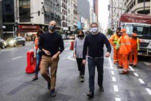 Ciudad:Obras de ciclovías en Corrientes y Córdoba