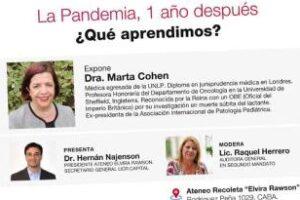 La Dra. Cohen y radicales en un encuentro virtual