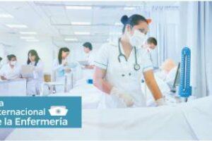 Personal de enfermería,preparada para una Jornada de Lucha